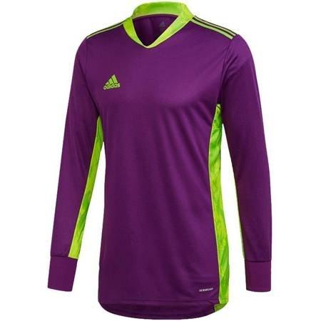 Bluza bramkarska dla dzieci adidas AdiPro 20 Goalkeeper Jersey Youth Longsleeve fioletowo-zielona FI4198