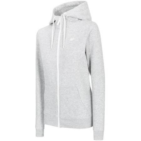 Bluza damska 4F chłodny jasny szary melanż NOSD4 BLD300 27M