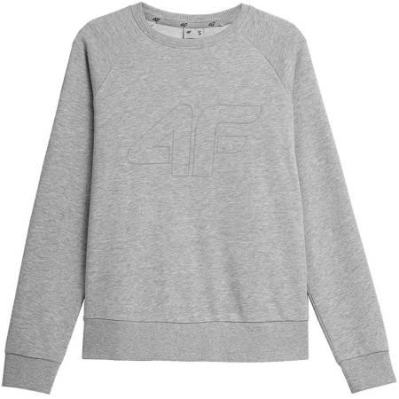 Bluza damska 4F chłodny jasny szary melanż NOSH4 BLD350 27M