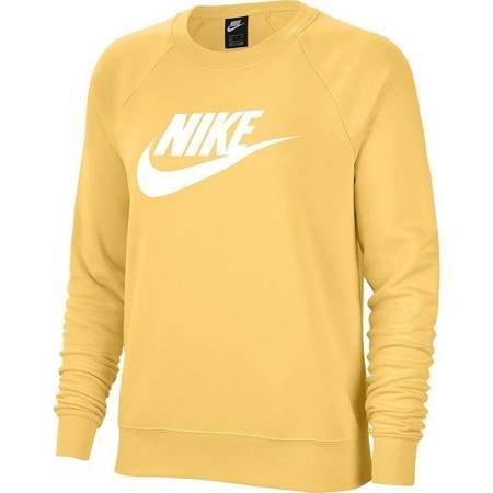 Bluza damska Nike Essentials Crew FLC HBR żółta BV4112 795