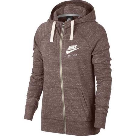 Bluza damska Nike W NSW Gym VNTG Hoodie FZ brązowa 883729 259