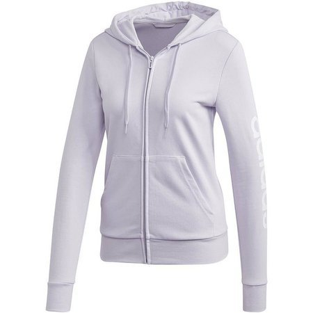 Bluza damska adidas W Essential Linear FZ HD jasnofioletowa FM6482