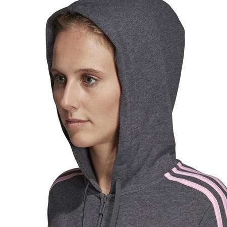 Bluza damska adidas W Essentials 3S FZ HD szara DU0657