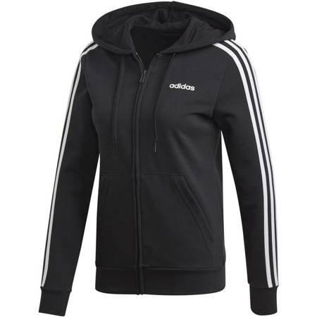 Bluza damska adidas W Essentials 3Stripes FZ HD czarna DP2419