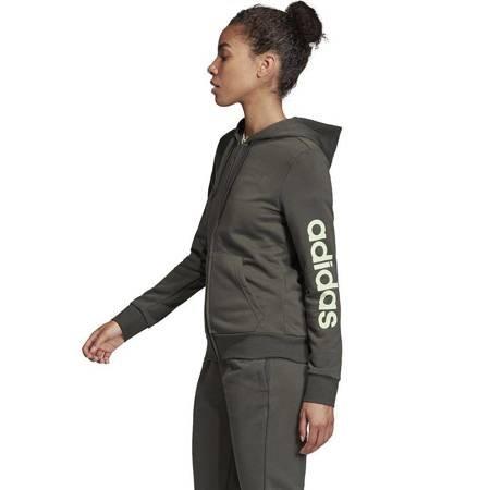 Bluza damska adidas W Essentials Linear FZ HD khaki FJ5386