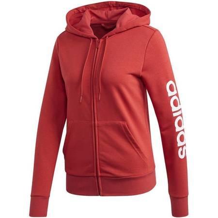 Bluza damska adidas W Essentials Linear FZ Hoodie czerwona FM6483