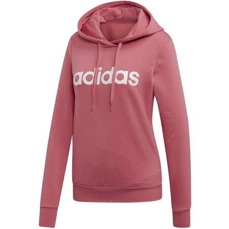 Bluza damska adidas W Essentials Linear OH HD różowa EI0655
