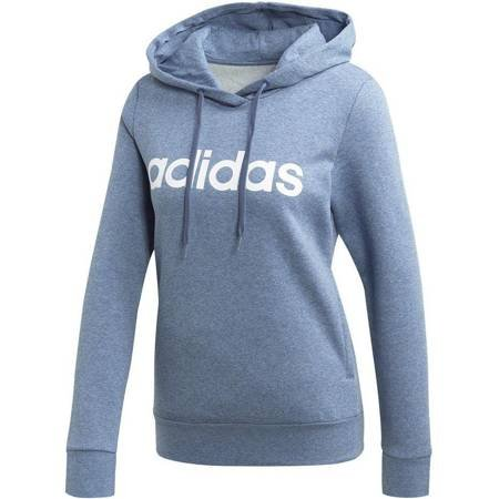 Bluza damska adidas W Essentials Linear Over Head Fleece Hoodie niebieska EI0671