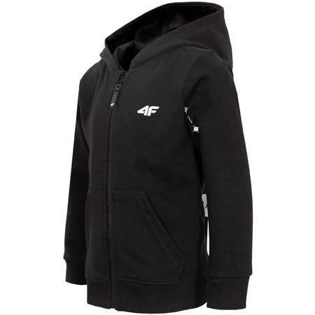 Bluza dla chłopca 4F głęboka czerń HJZ20 JBLM005 20S
