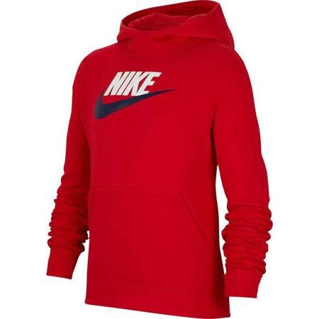 Bluza dla dzieci Nike B NSW PO Hoodie Club FLC HBR czerwona BV0783 661