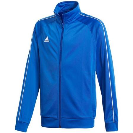 Bluza dla dzieci adidas Core 18 Polyester Jacket JUNIOR niebieska CV3578