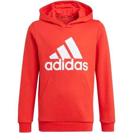 Bluza dla dzieci adidas Essentials Big Logo Hoodie czerwona GN4037