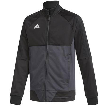 Bluza dla dzieci adidas Tiro 17 Polyester Jacket JUNIOR czarno-szara AY2876