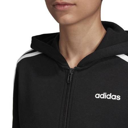 Bluza dla dzieci adidas YB Essentials 3S FZ HD czarna DV1823
