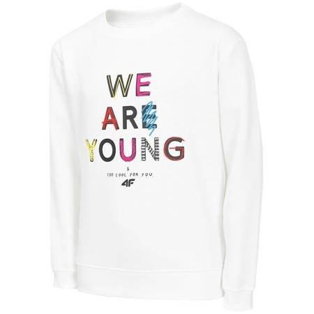 Bluza dla dziewczynki 4F biała HJZ20 JBLD003 10S