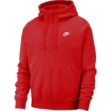 Bluza męska Nike Club Hoodie FZ BB czerwona BV2645 657