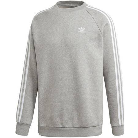 Bluza męska adidas 3-Stripes Crew szara ED6016
