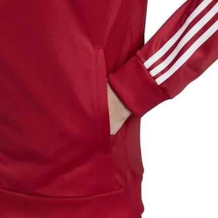 Bluza męska adidas Essentials 3 Stripes Tricot Track Top czerwona EI4891