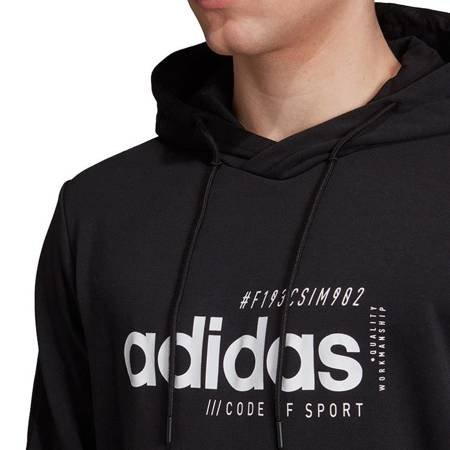 Bluza męska adidas M Briliant Basics Hoody czarna EI4622