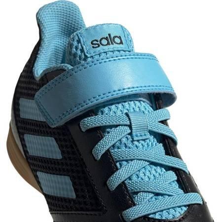 Buty piłkarskie adidas Predator 19.4 H&L IN Sala JUNIOR czarno niebieskie G25831