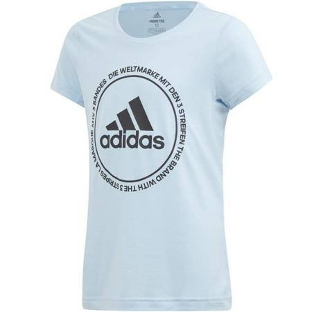 Koszulka dla dzieci adidas YG TR Prime Tee jasno niebieska ED6331