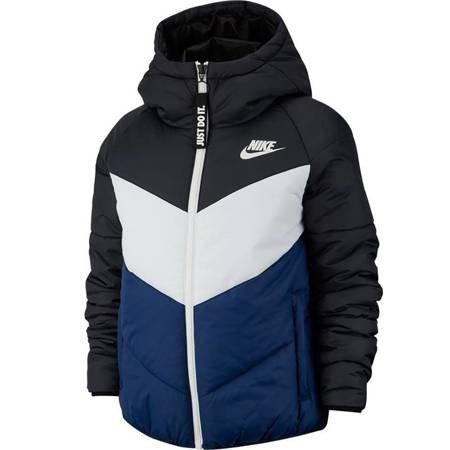 Kurtka damska Nike W NSW WR Synthetic Fill JKT HD czarno-biało-granatowa BV2906 011