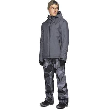 Kurtka narciarska męska 4F średni szary melanż H4Z19 KUMN001 24M