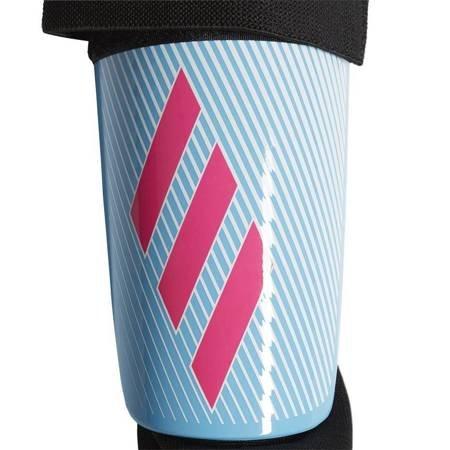 Ochraniacze piłkarskie adidas X Club niebiesko różowe DY0087