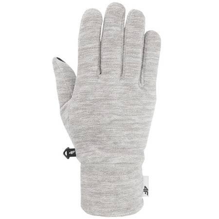 Rękawiczki zimowe 4F średni szary melanż H4Z19 REU061 24M