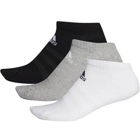 Skarpety adidas Cushioned Low 3PP białe, czarne, szare DZ9383